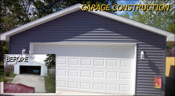 Garage Construction and Building Outagamie/Winnebago Wisconsin