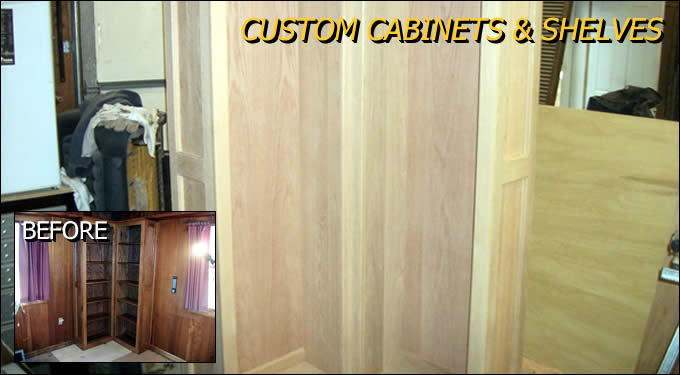 Custom Cabinets and Shelves Outagamie/Winnebago Wisconsin