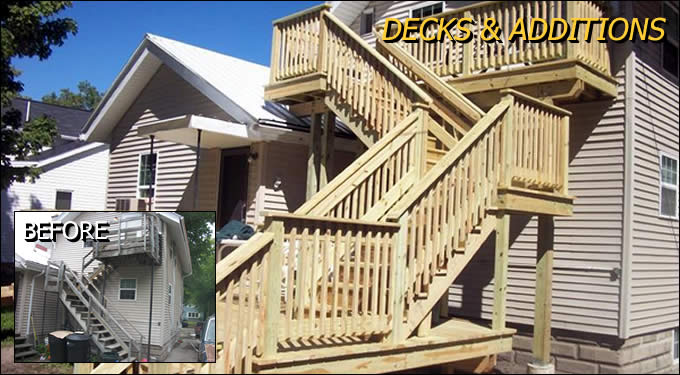 Deck Construction and Home Additions/Add-Ons Outagamie/Winnebago Wisconsin